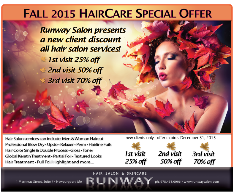 Runway Hair Salon And Skincare Special Offer With Discount Coupon